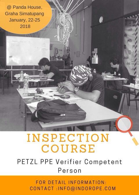 Inspect your PPE, be an inspector Register now! Limited for 10 person!