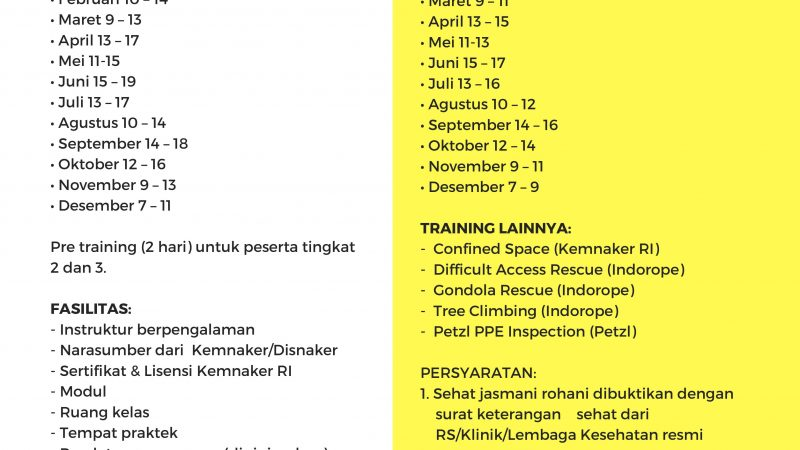 Jadwal Training 2020 crop